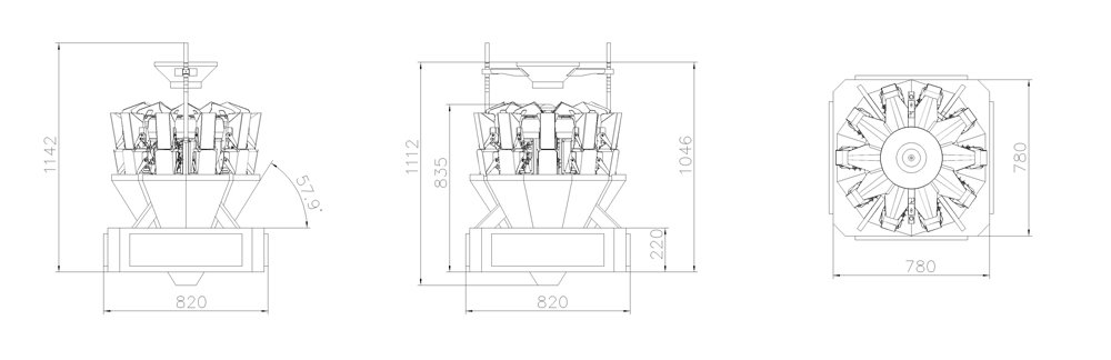 adjustable multihead weigher packing machine head factory price for food weighing-1
