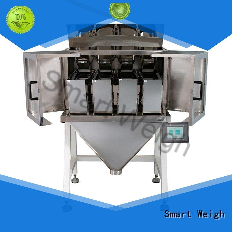 Smart Weigh swlw1 2 head linear weigher for food labeling
