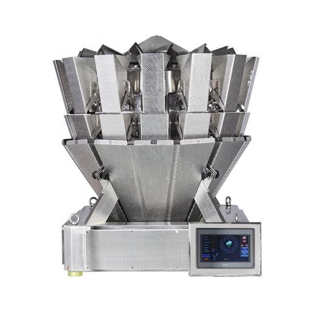 Máquina de pesaje de bocadillo de refrigerio libre de 14 cabezales automáticos de 14 cabezas.