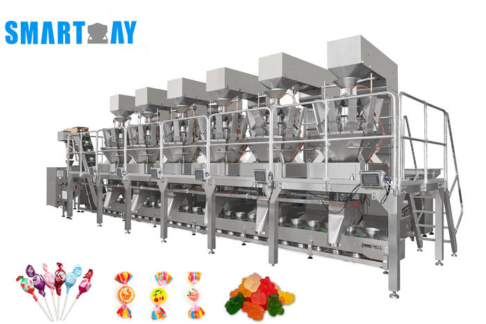 Full automatic gummy candy snacks,lollipop mixture packing line