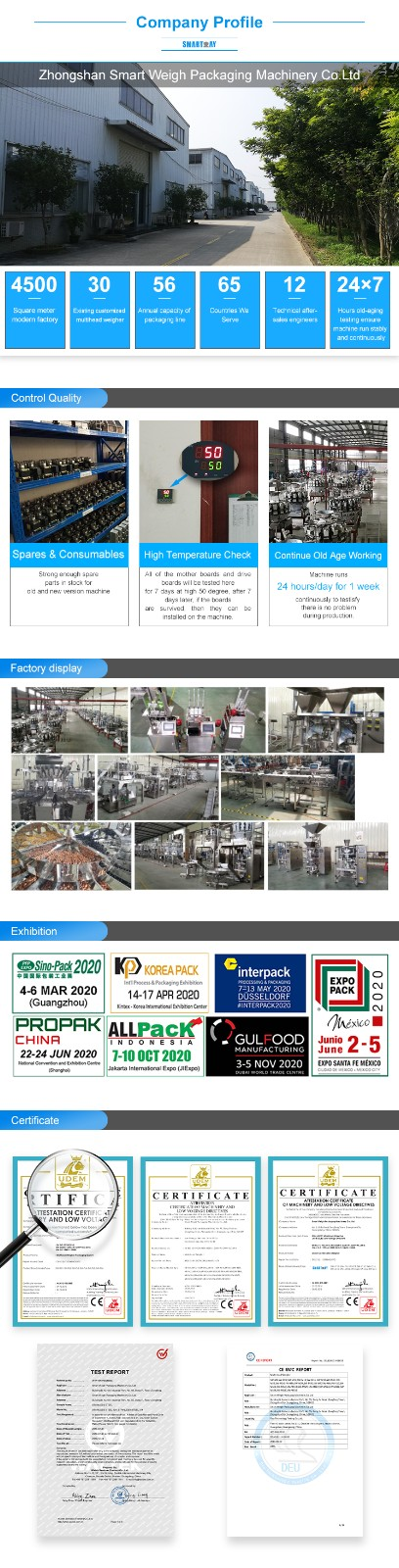 Smartweigh Pack high-quality powder sachet filling machine factory for meat packing-6