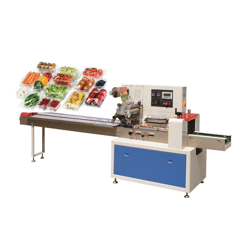 Automatic horizontal pillow bag biscuit cookies chocolate vegetable flow packing machine