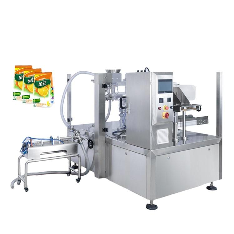 Jugo de fruta automático completo / de leche / agua / ketchup Sachet Squet Empaquetado líquido Máquina