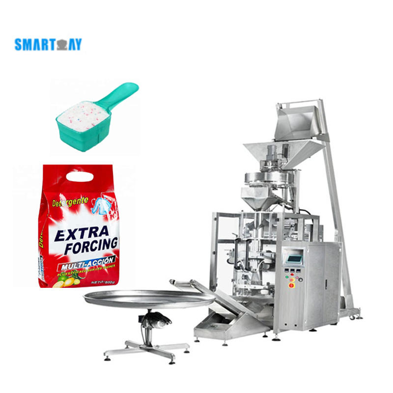 Automatic Commercial Volumetric Cup Measuring washing powder Packing Machine