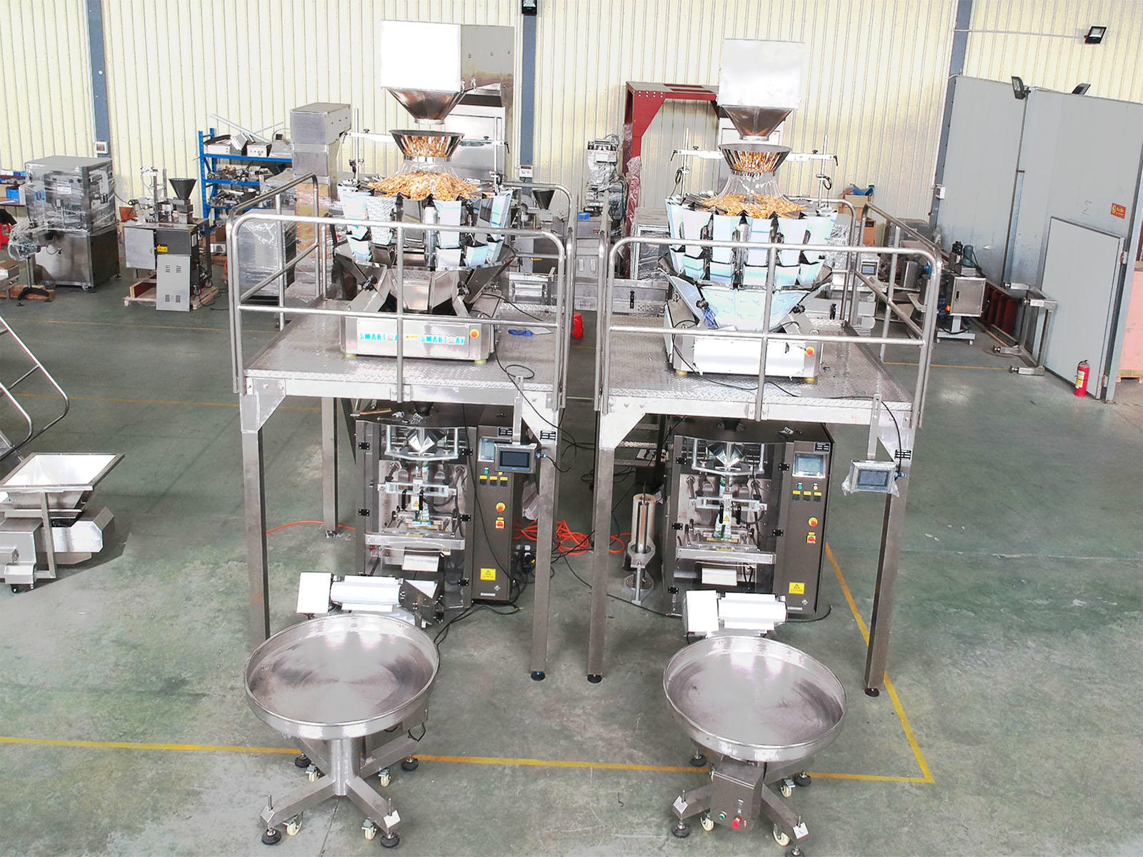 Automatic Potato Chips Vertical Packing Machine Line