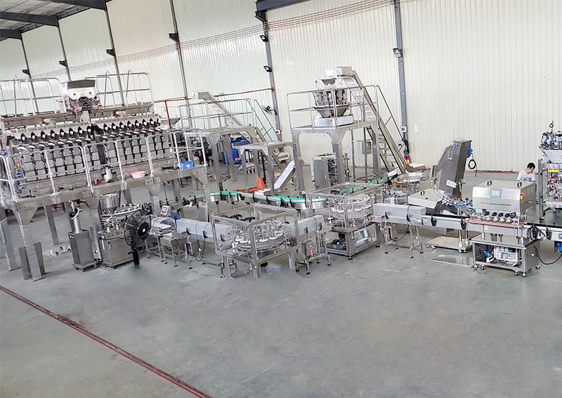 Automatic weighing Korean Kimchi pickle bottle packing line