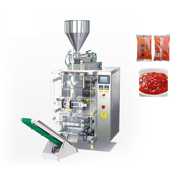 Automatic vffs tomato paste sauce ketchup pouch packaging machine line