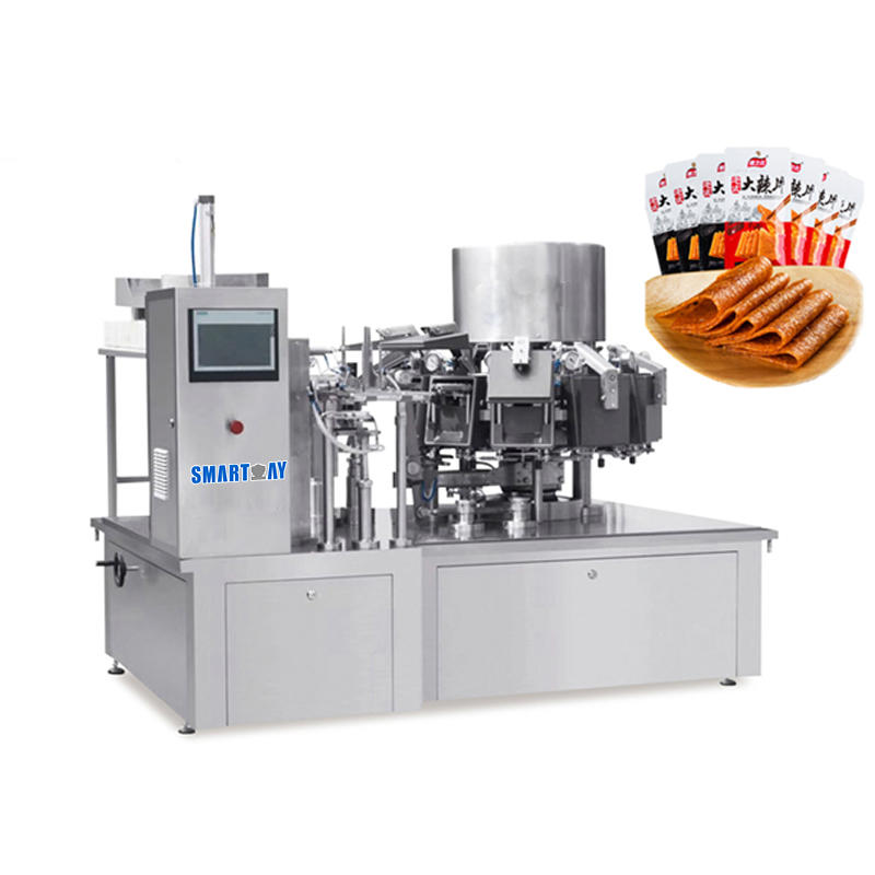 rotary automatic vaccum sealing food packing machine