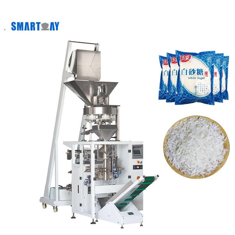 Automatic Salt Sugar Rice Grain Pea Nuts Cashew Sachet Packing Bagging Sealing Nuts Filling Machine