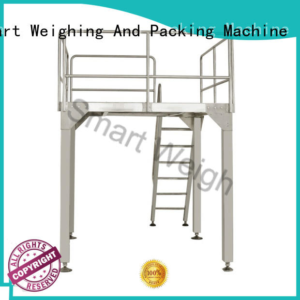 Smart Weigh safety work platform ladders factory price for food labeling
