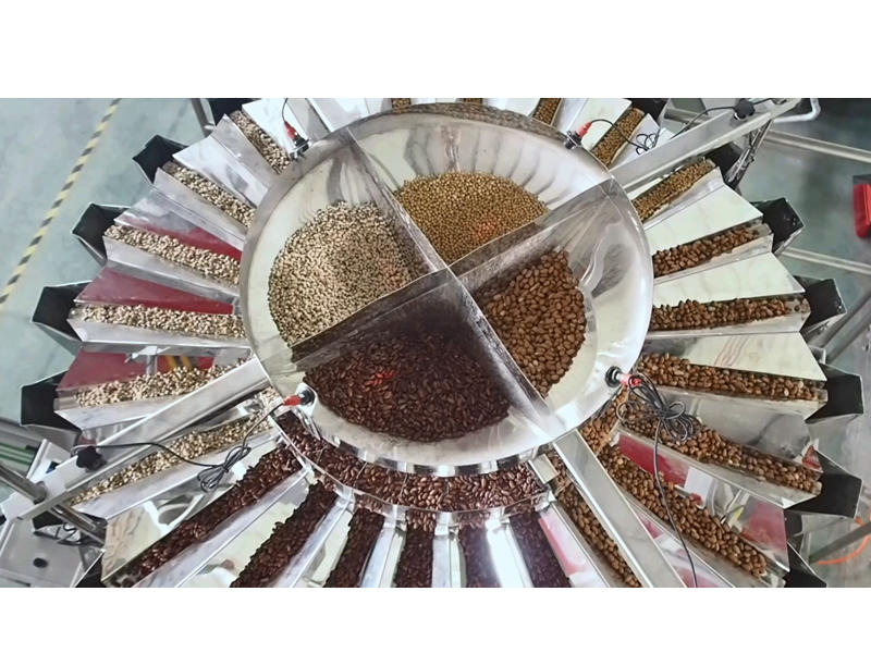 Smart Weigh pack 4 Mixutre  bean nuts automatic weighing and Doypack Packing System