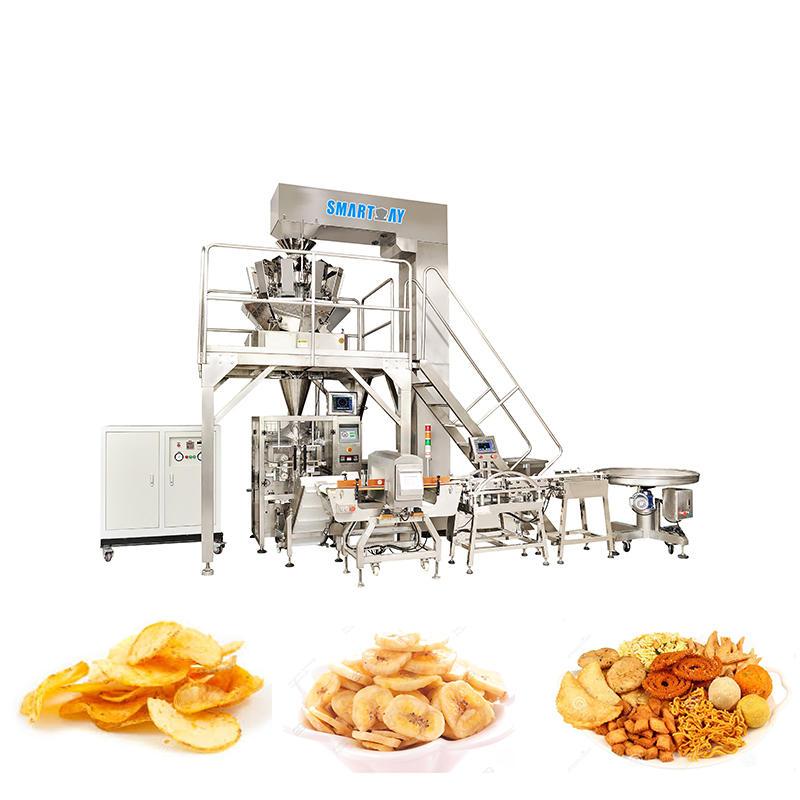 Automatic Snacks Banana Chips Potato Chips Packing Machine