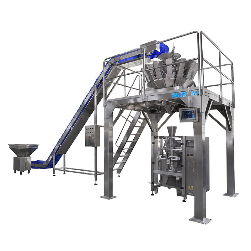 Vegetables Salad Packaging Machine with 14 Head Multihead Weigher