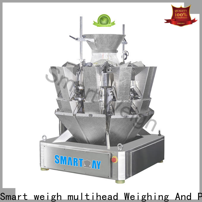Smart Weigh pack eco-friendly 14 head multi head combination weigher manufacturers for foof handling
