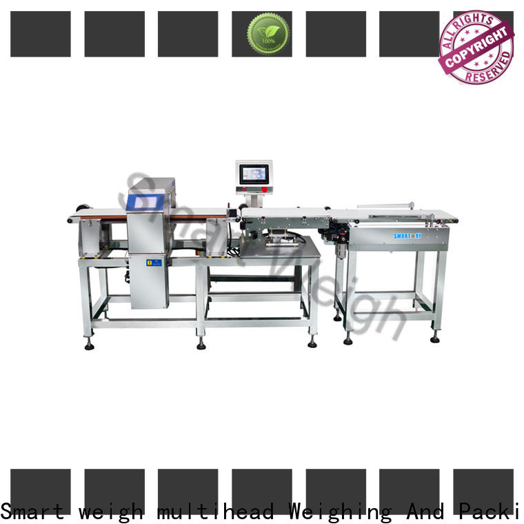Smart Weigh pack high-quality metal detectors conveyor systems inquire now for food weighing
