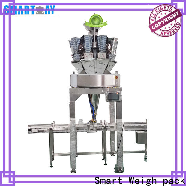 top vertical form fill seal machine multihead supply for salad packing