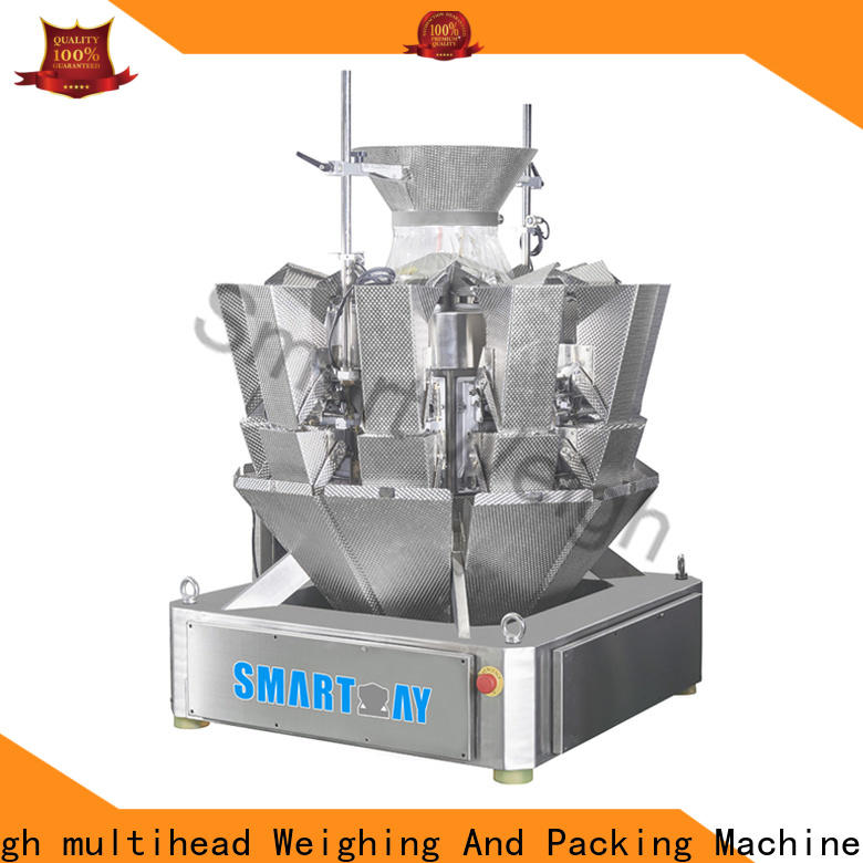 Smart Weigh pack line multi head weighing machine widely use for food labeling