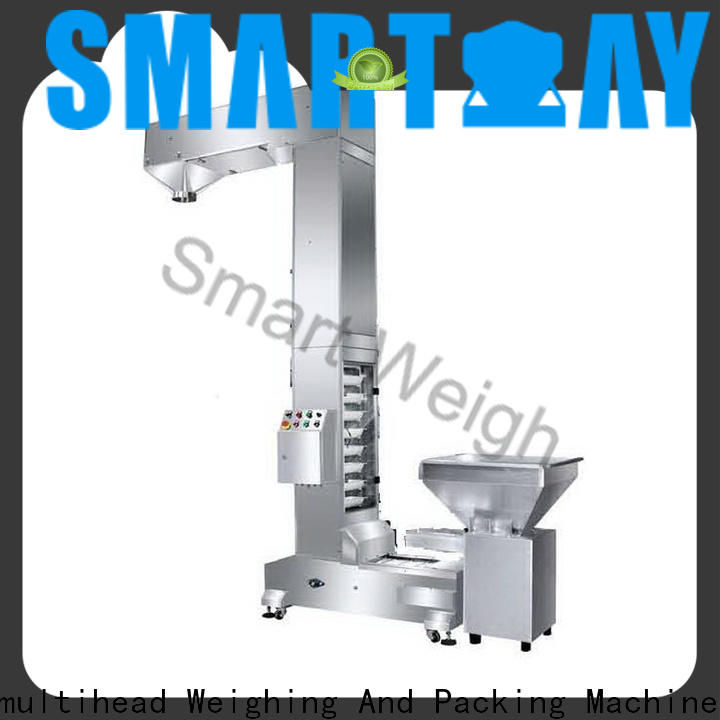 Smart Weigh pack machine inclined cleated belt conveyor with good price for foof handling