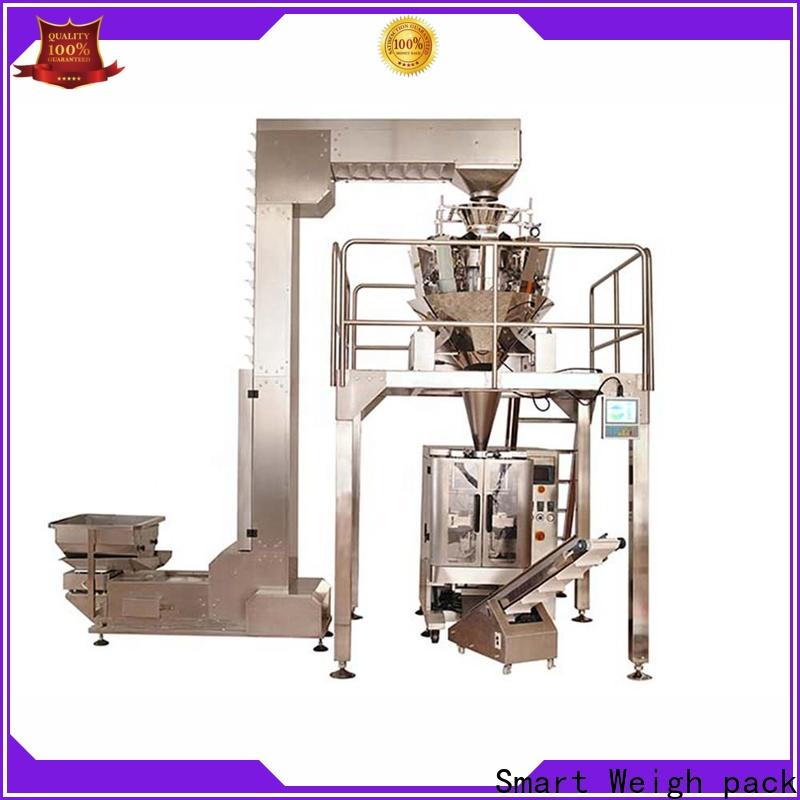 Smart Weigh pack crisps film packaging machine with cheap price for food labeling