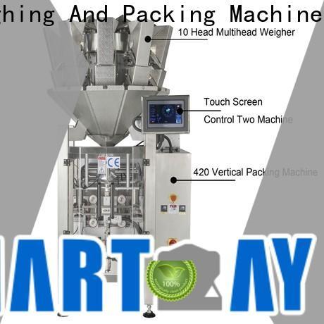 Smart Weigh pack pineapplepeachappleorange vertical bagging machine factory for food packing