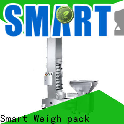 Smart Weigh pack easy-operating inclined bucket conveyor with cheap price for food weighing