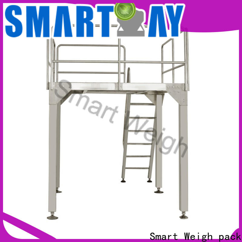 Smart Weigh pack conveyor rotary table with cheap price for food labeling