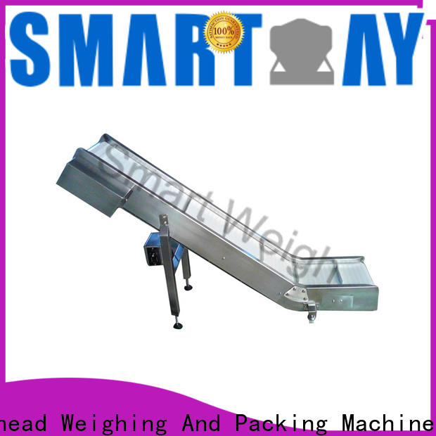 Smart Weigh pack new inclined cleated belt conveyor in bulk for food labeling