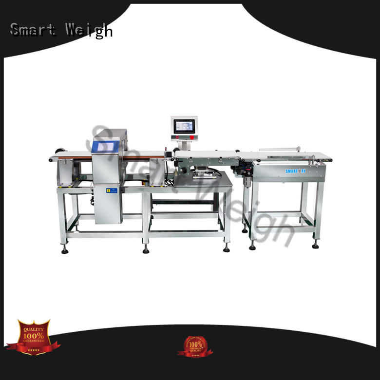 Smart Weigh metal inspection machine customization for food packing