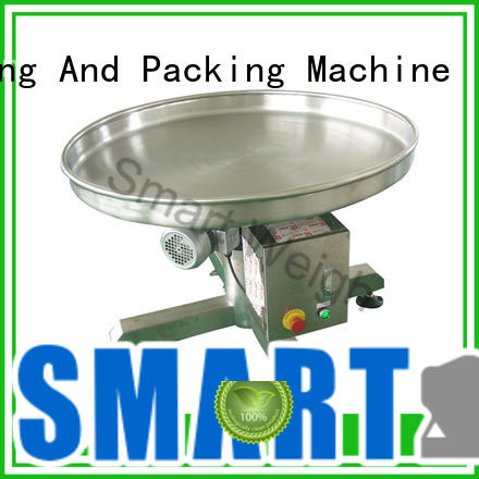 Smart Weigh easy operating aluminum work platform output for food labeling