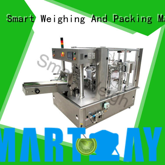Smart Weigh quadsealed pouch packing machine order now for food weighing