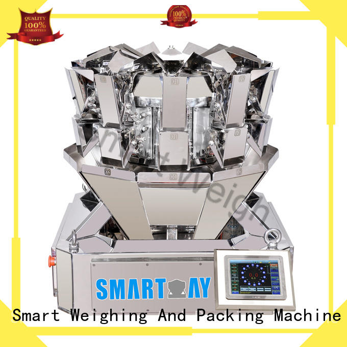 mini multihead weigher packing machine smart discharge Smart Weigh Brand
