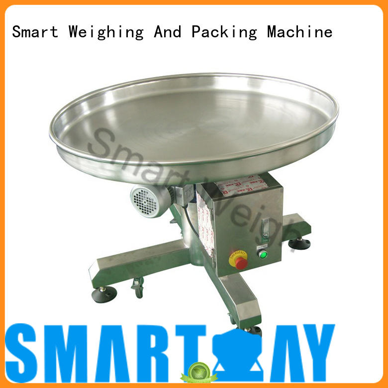 Smart Weigh safety output conveyor with good price for food labeling
