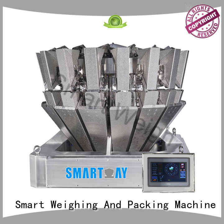 Hot mini multihead weigher packing machine discharge Smart Weigh Brand