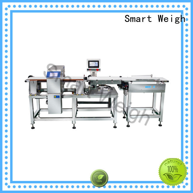 Smart Weigh checkweigher metal detector machine factory price for food labeling